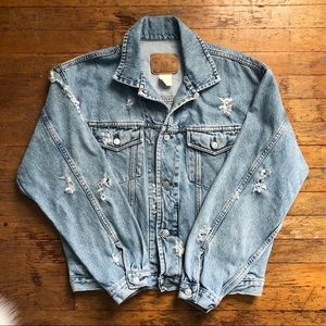 Vintage GAP Oversized Denim Trucker Jacket M